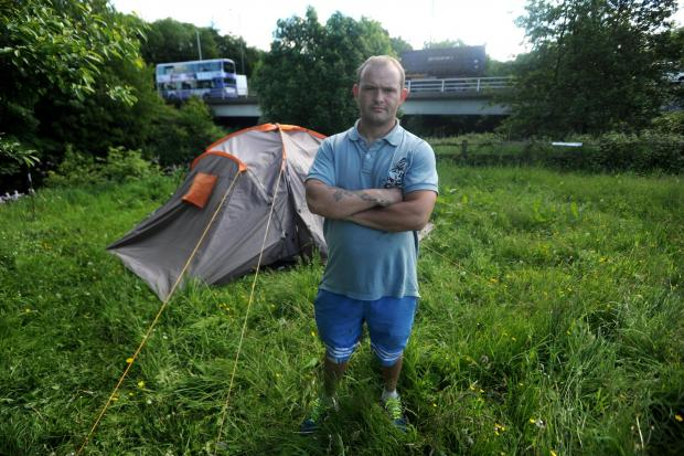 'Bear Grylls of Bury' has camp taken away after living in tent near M66 roundabout